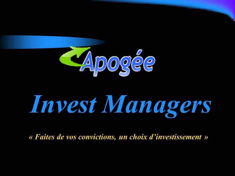 « Faites de vos convictions, un choix d'investissement »