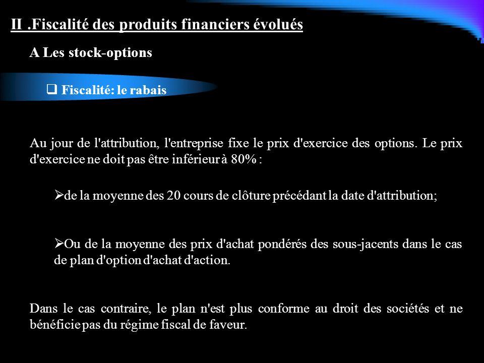 II .Fiscalité des produits financiers évolués