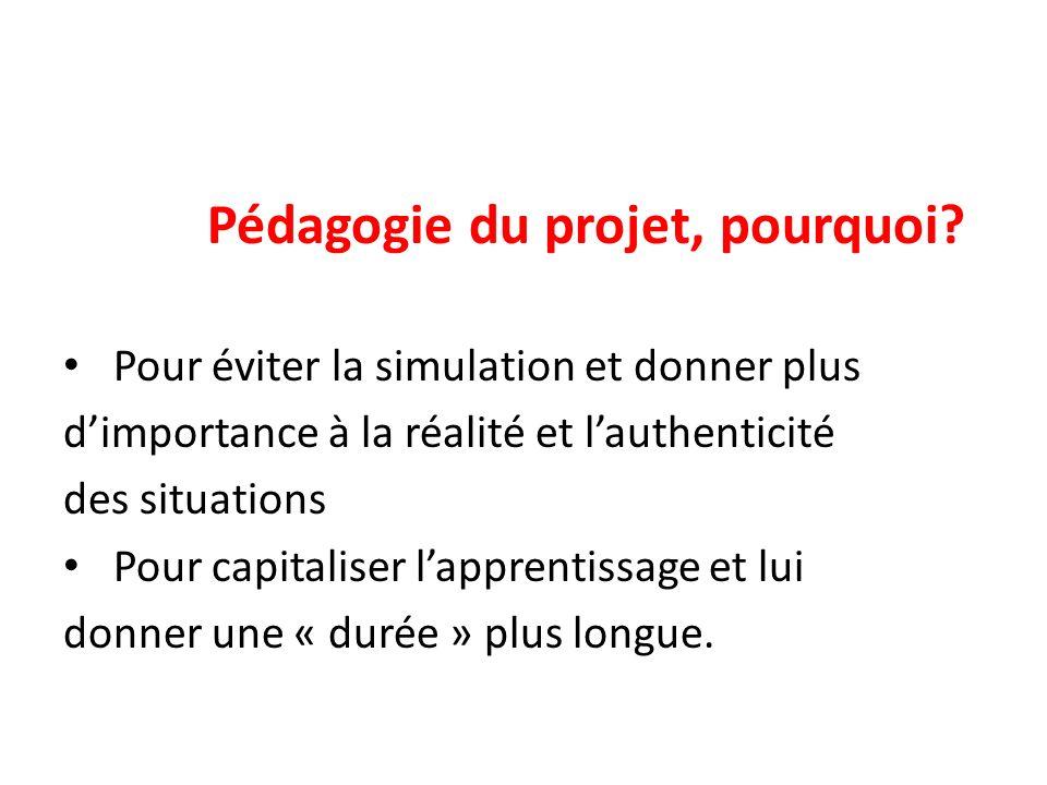 Pédagogie du projet, pourquoi