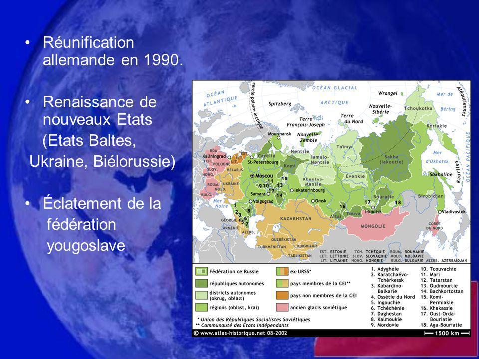 Réunification allemande en 1990.