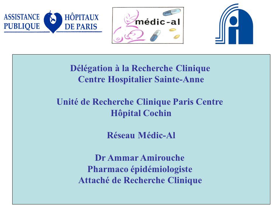 Délégation à la Recherche Clinique Centre Hospitalier Sainte-Anne
