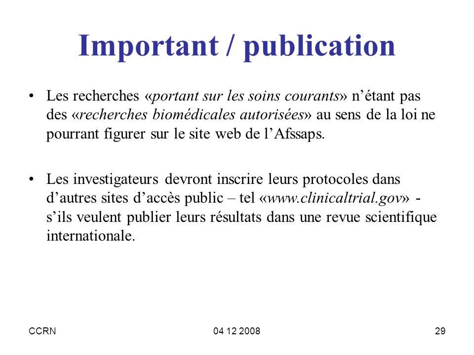 Important / publication