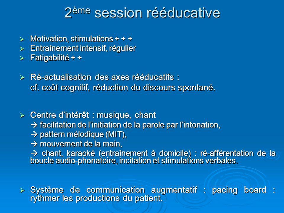 2ème session rééducative
