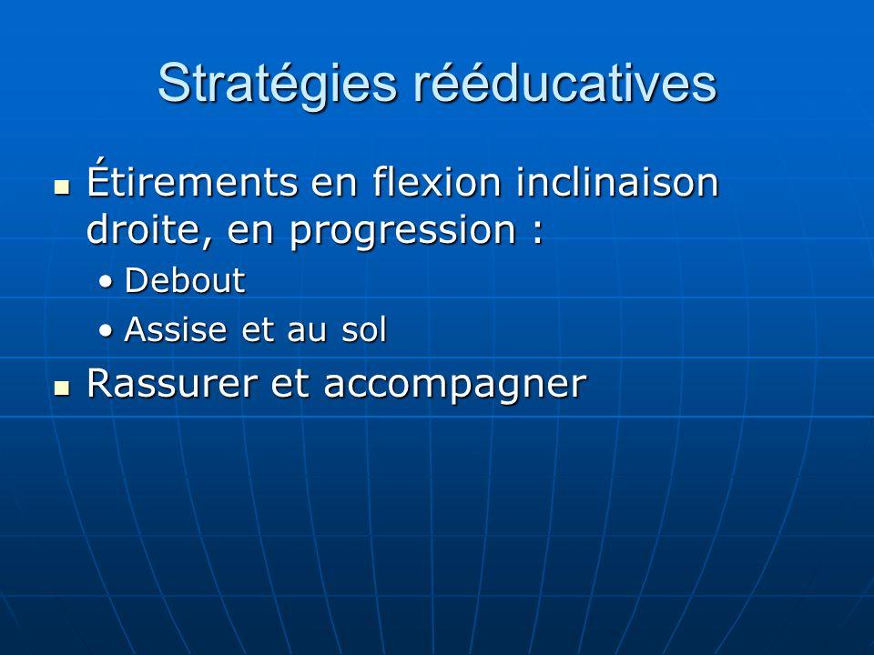 Stratégies rééducatives