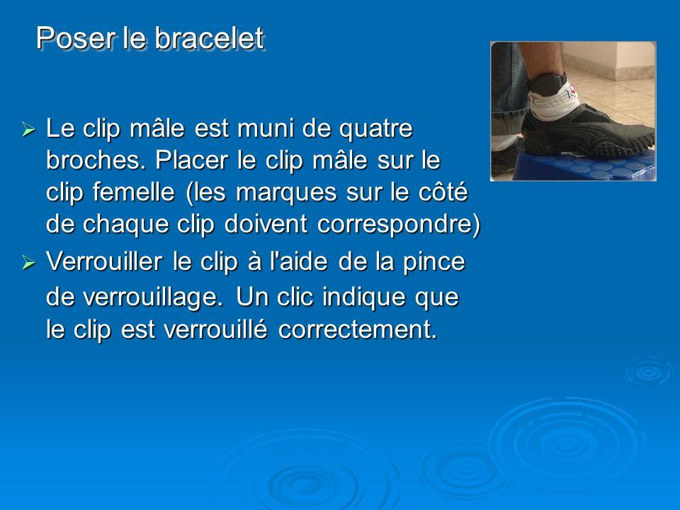 Poser le bracelet