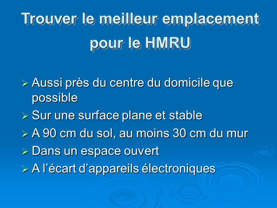 Trouver le meilleur emplacement pour le HMRU