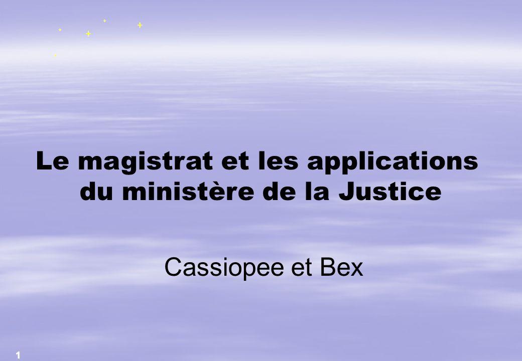 Le magistrat et les applications du ministère de la Justice