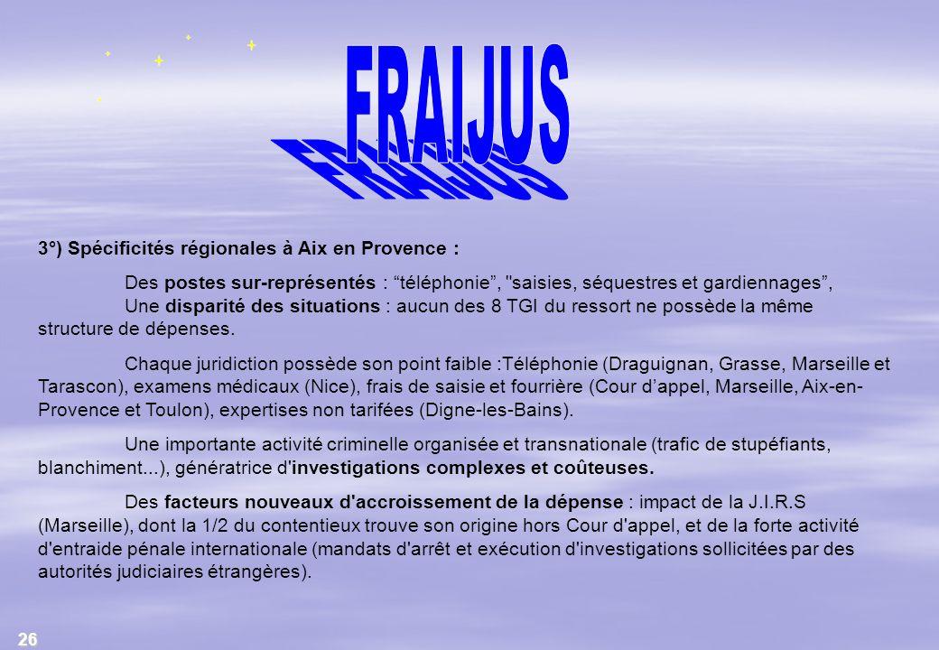FRAIJUS 3°) Spécificités régionales à Aix en Provence :