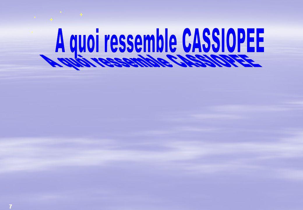 A quoi ressemble CASSIOPEE