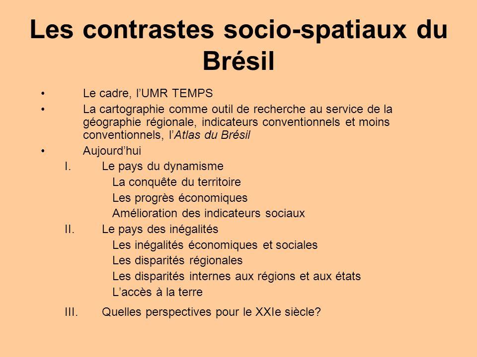 Les contrastes socio-spatiaux du Brésil