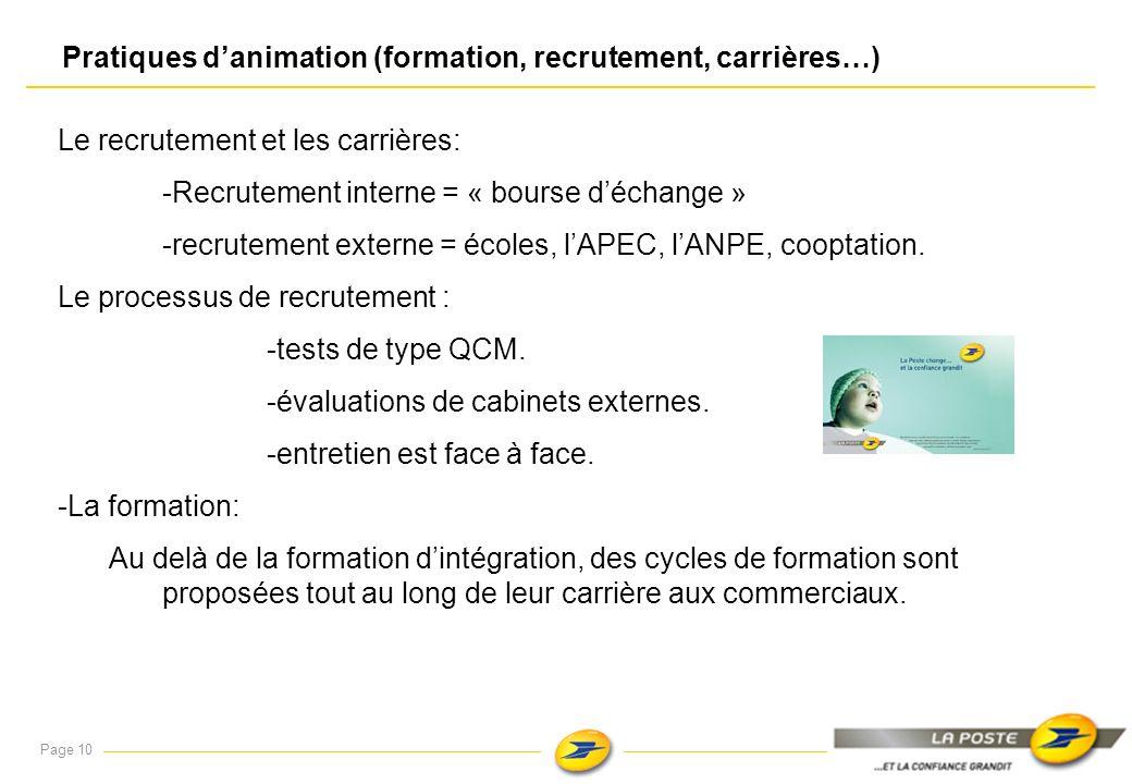 Pratiques d'animation (formation, recrutement, carrières…)