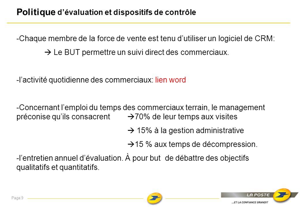 Politique d'évaluation et dispositifs de contrôle