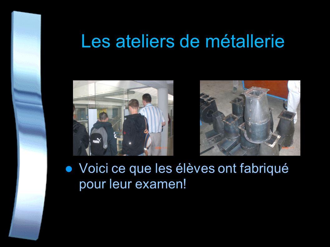 Les ateliers de métallerie