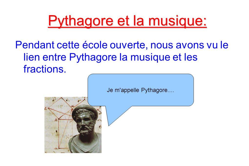 Pythagore et la musique: