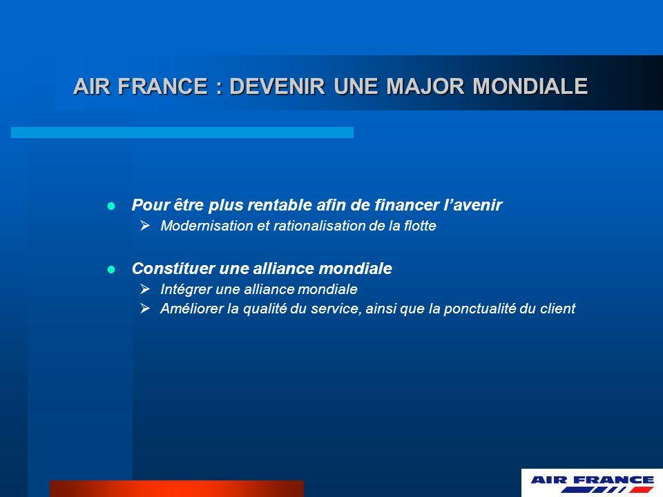 AIR FRANCE : DEVENIR UNE MAJOR MONDIALE