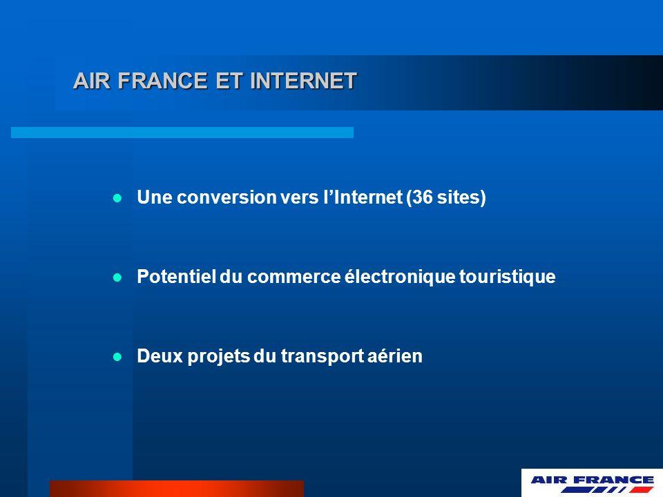 AIR FRANCE ET INTERNET Une conversion vers l'Internet (36 sites)