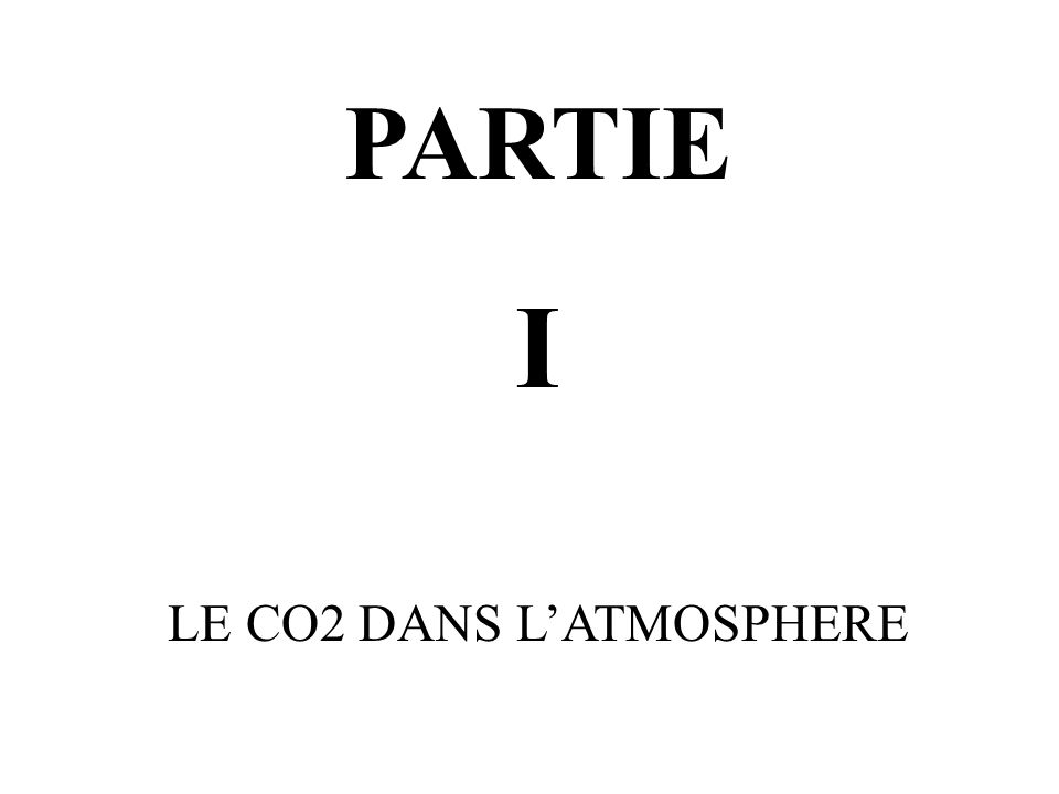 LE CO2 DANS L'ATMOSPHERE