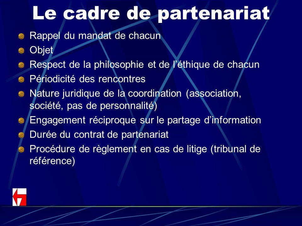 Le cadre de partenariat