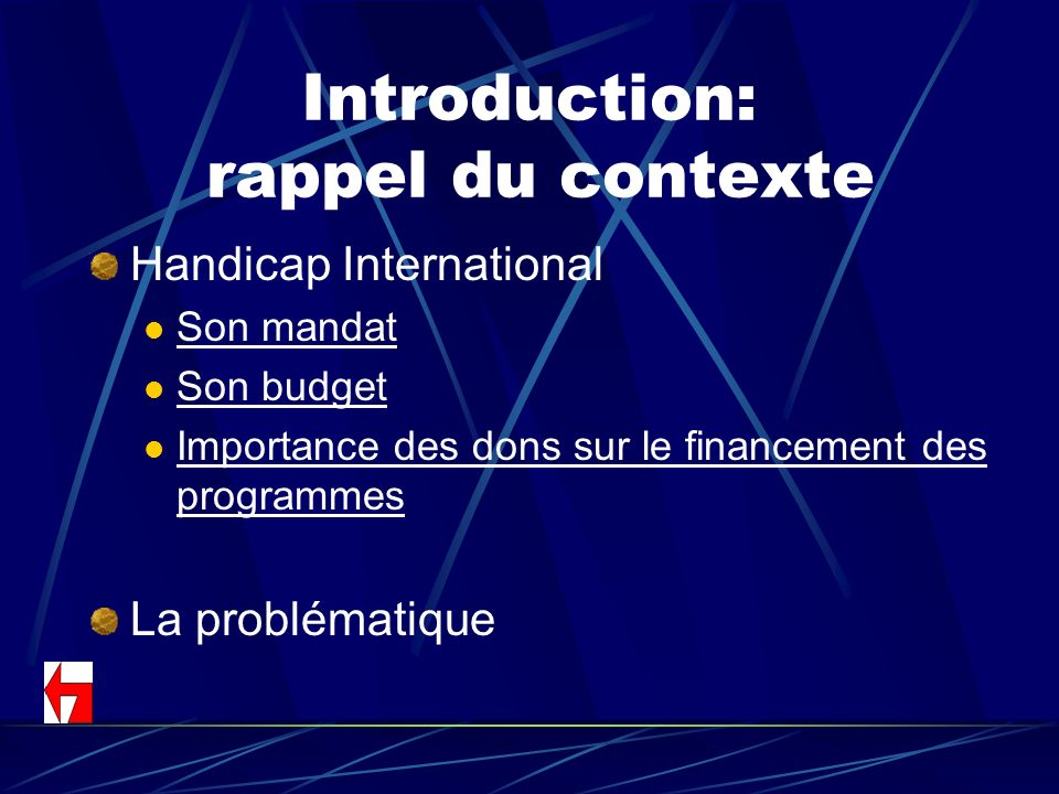 Introduction: rappel du contexte