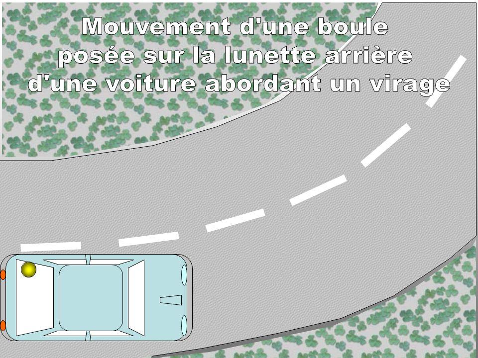 posée sur la lunette arrière d une voiture abordant un virage