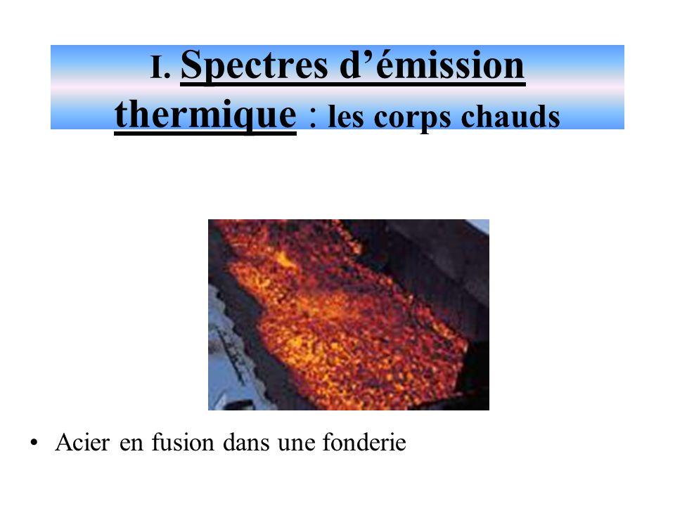 I. Spectres d'émission thermique : les corps chauds