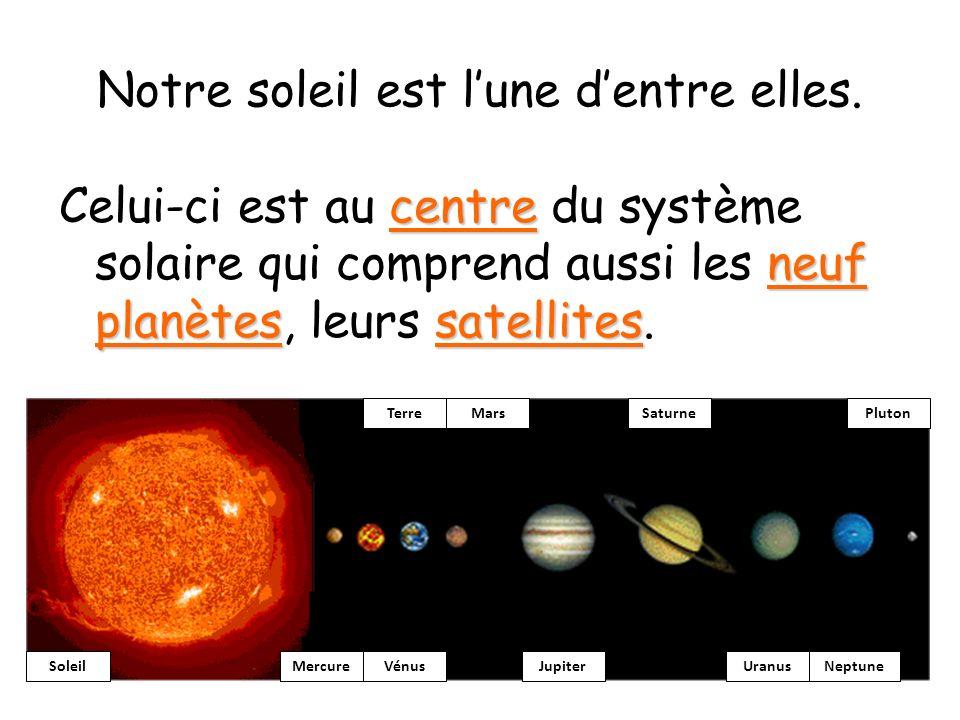 Notre soleil est l'une d'entre elles.