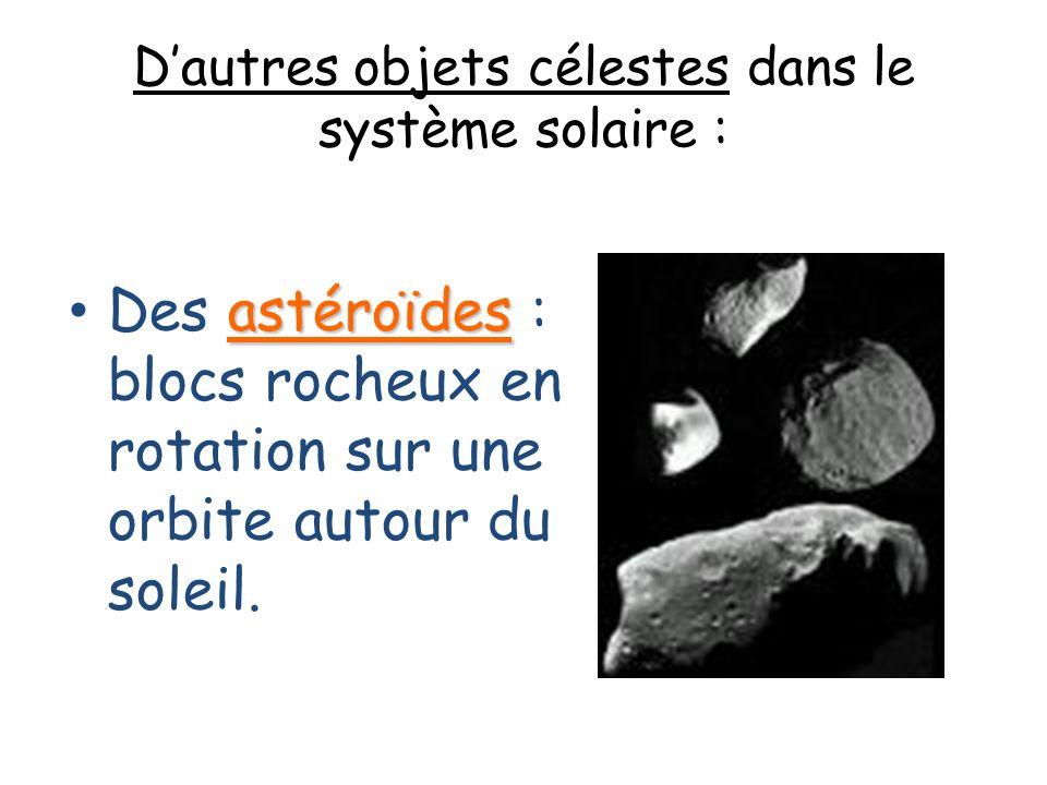 D'autres objets célestes dans le système solaire :
