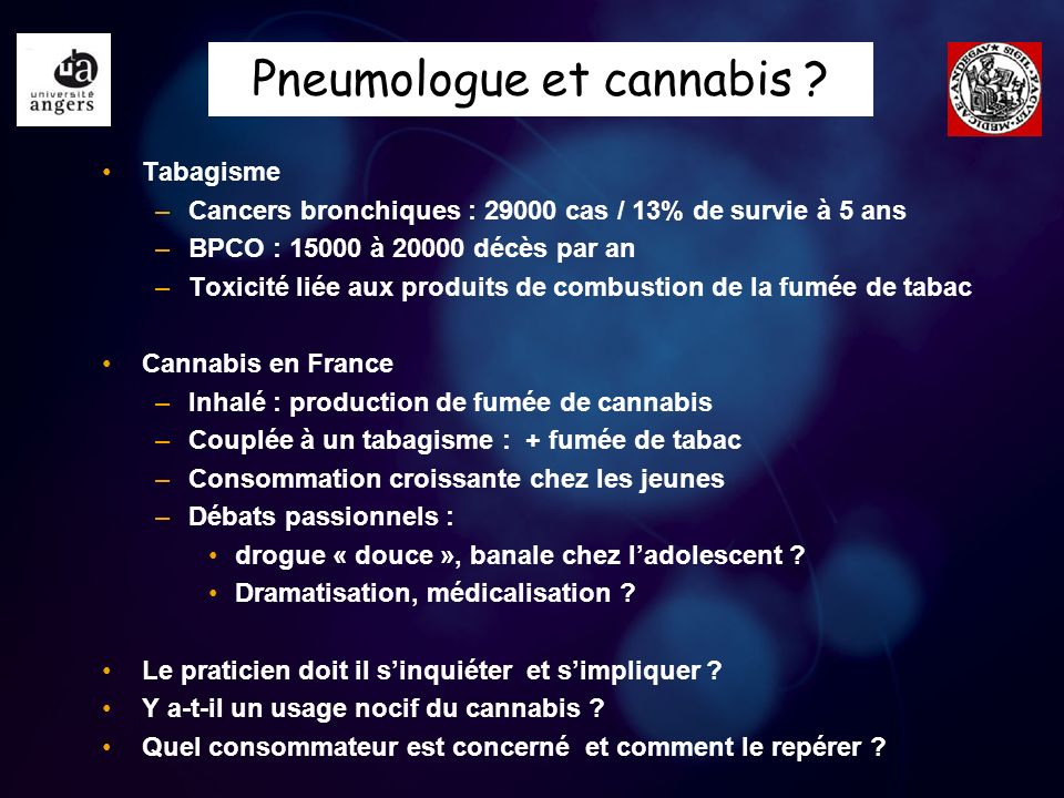 Pneumologue et cannabis