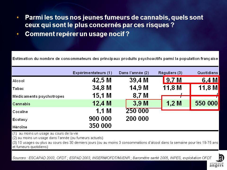 Parmi les tous nos jeunes fumeurs de cannabis, quels sont ceux qui sont le plus concernés par ces risques