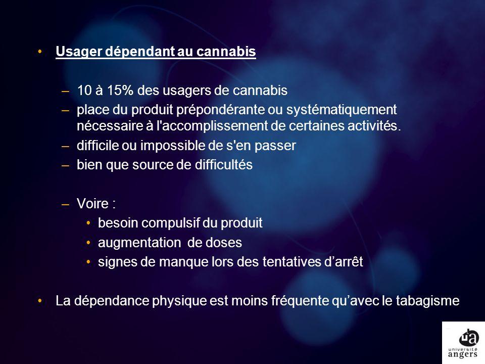 Usager dépendant au cannabis
