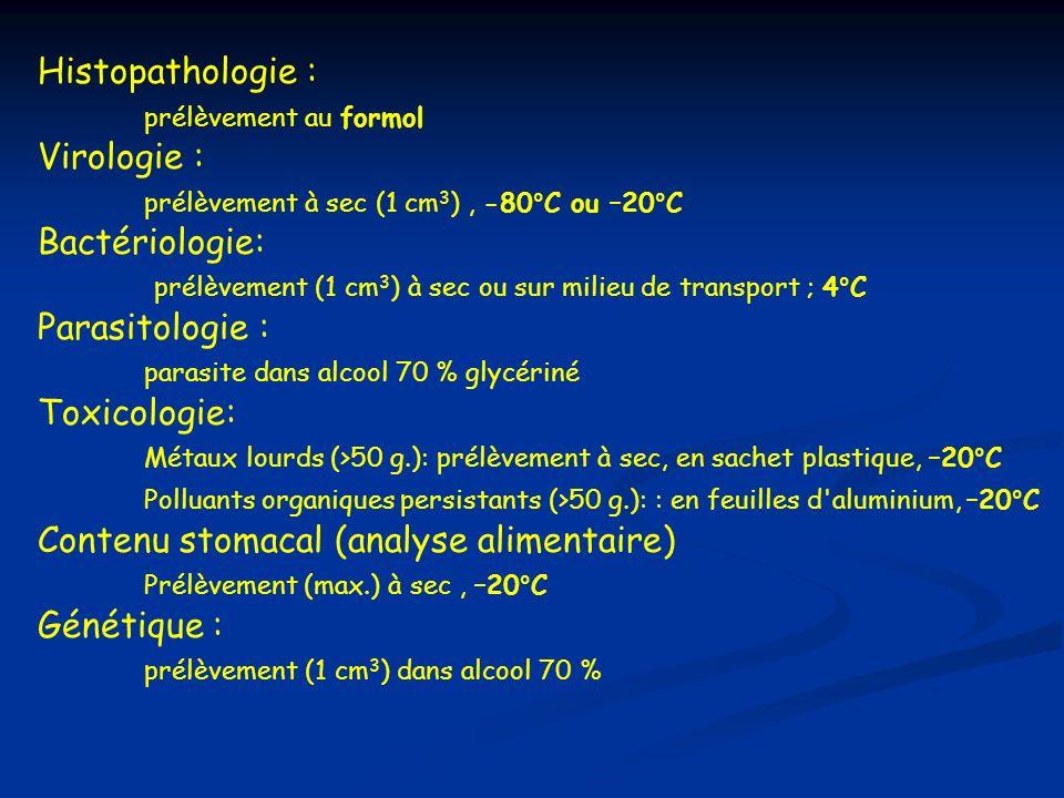 prélèvement (1 cm3) à sec ou sur milieu de transport ; 4°C