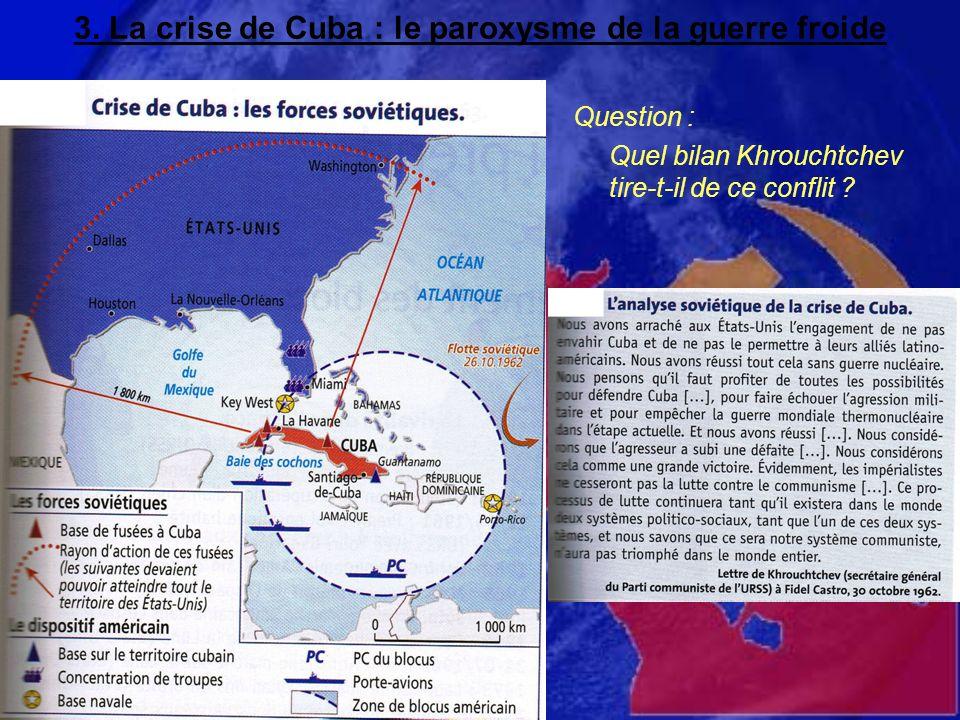 3. La crise de Cuba : le paroxysme de la guerre froide