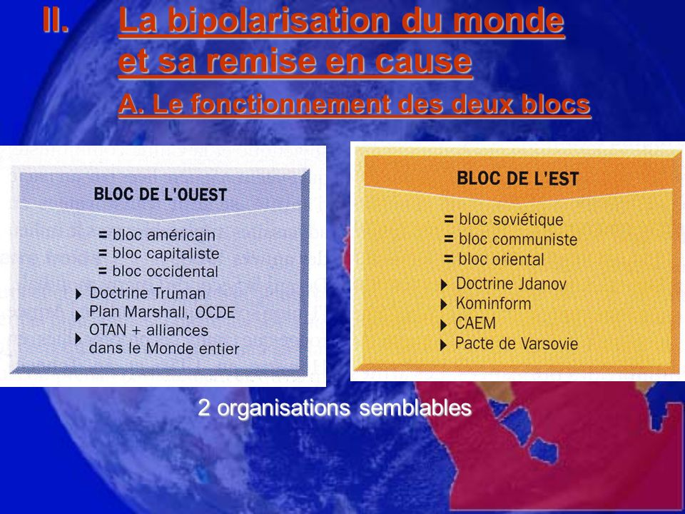 2 organisations semblables
