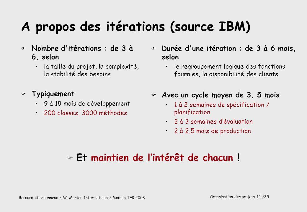 A propos des itérations (source IBM)
