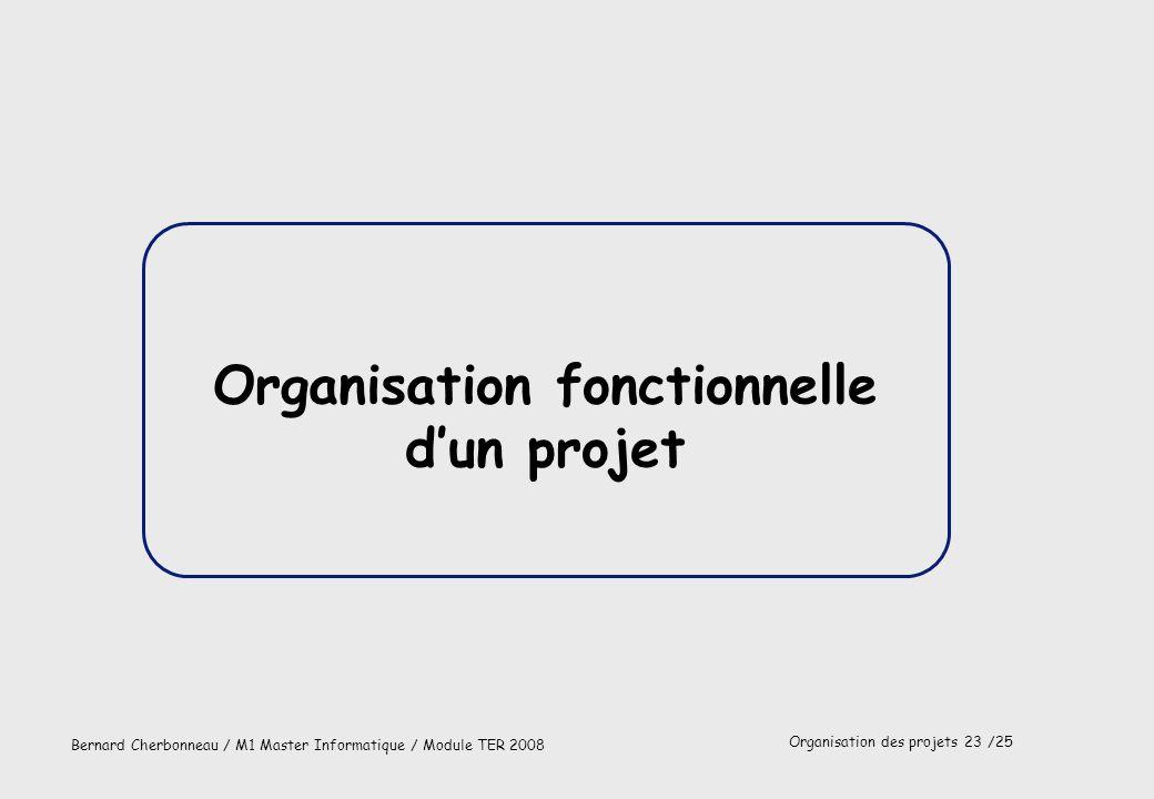 Organisation fonctionnelle