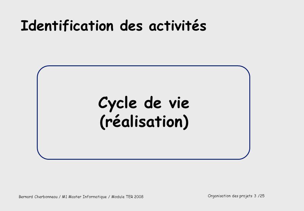 Cycle de vie (réalisation)