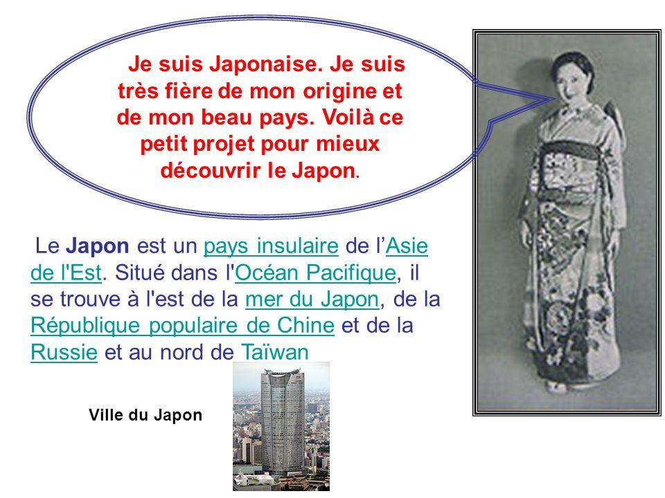 Je suis Japonaise. Je suis très fière de mon origine et de mon beau pays. Voilà ce petit projet pour mieux découvrir le Japon.