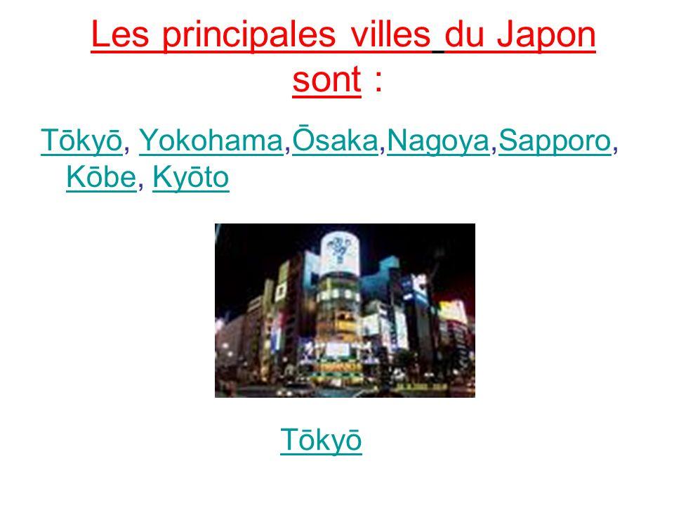 Les principales villes du Japon sont :