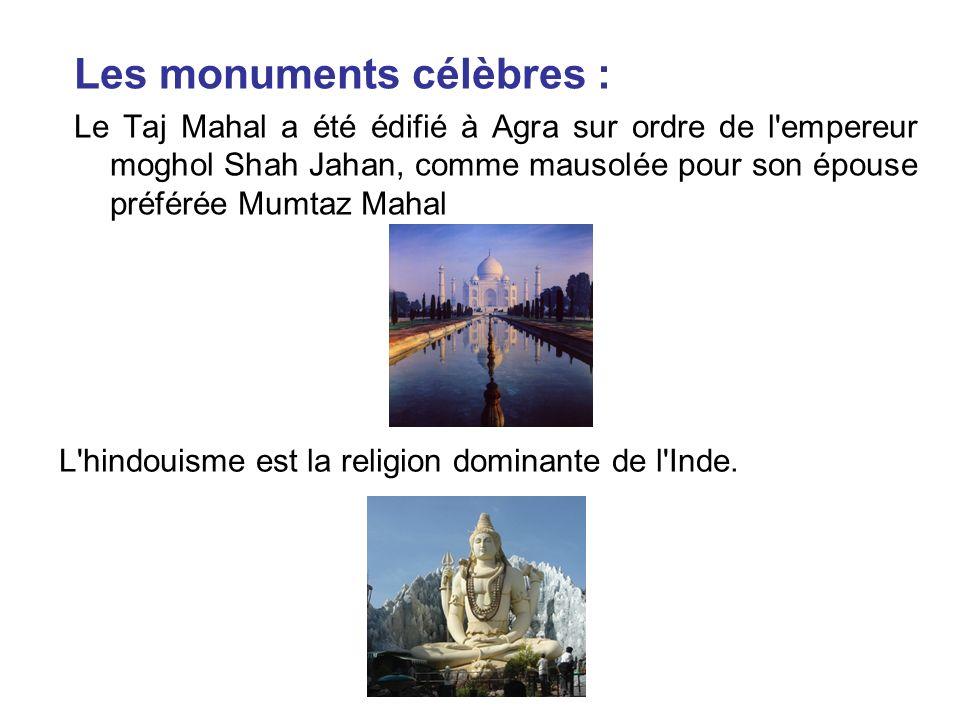 Les monuments célèbres :