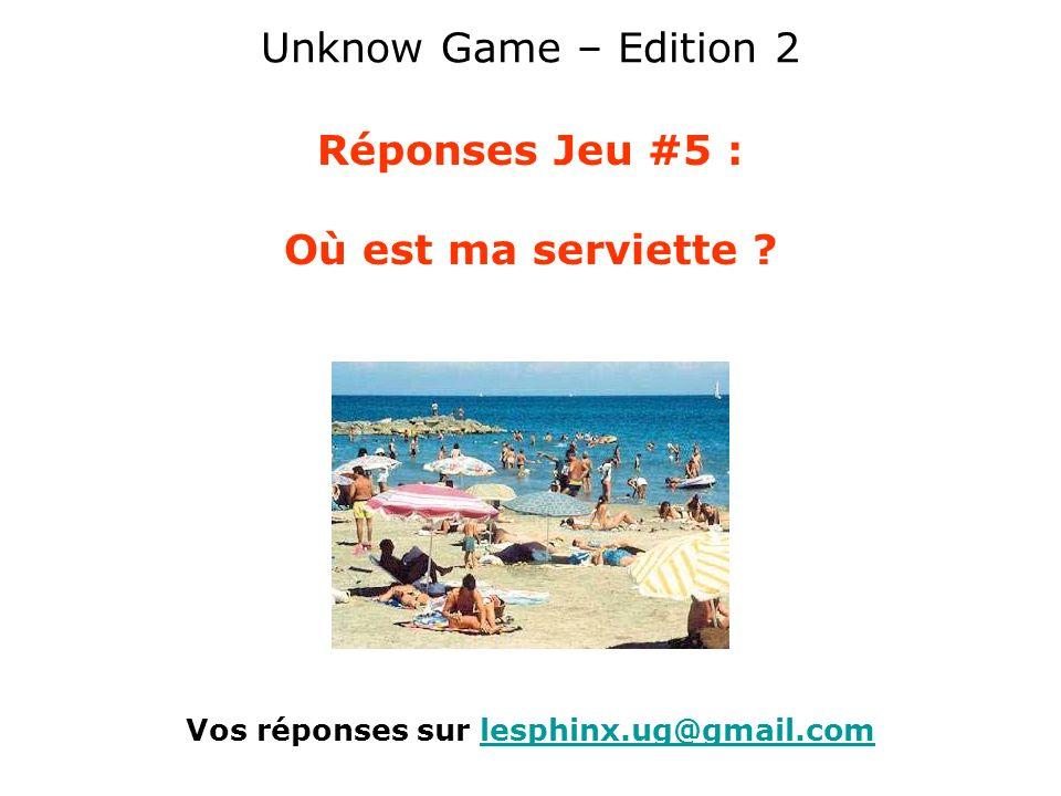 Vos réponses sur lesphinx.ug@gmail.com