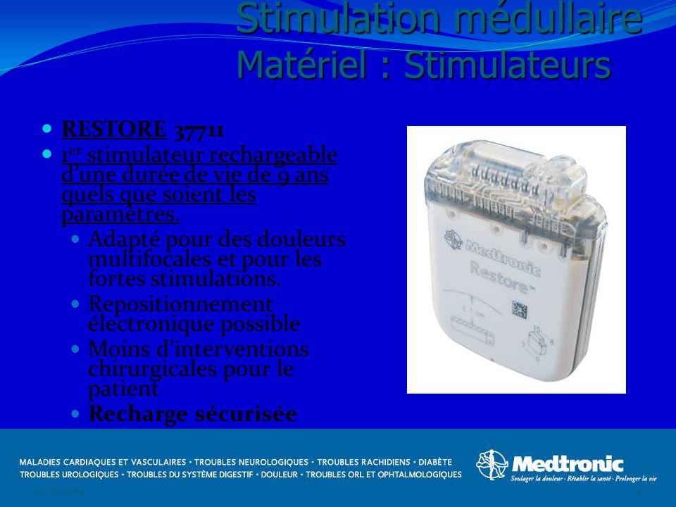 Stimulation médullaire Matériel : Stimulateurs