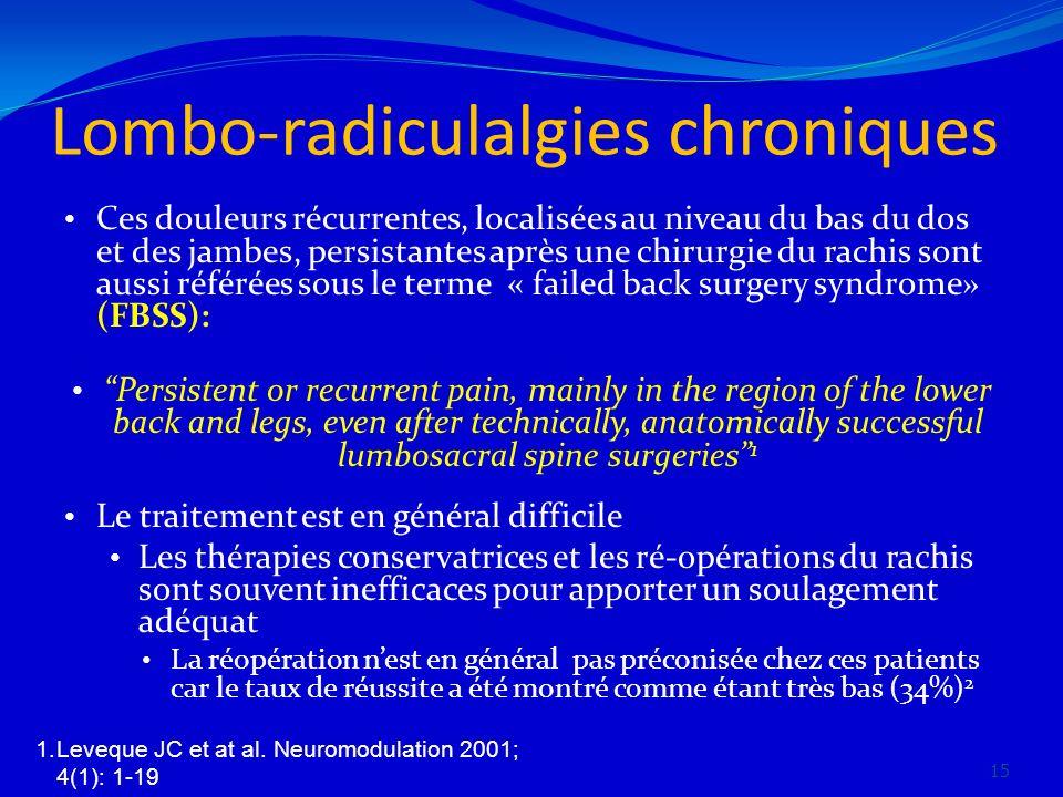 Lombo-radiculalgies chroniques