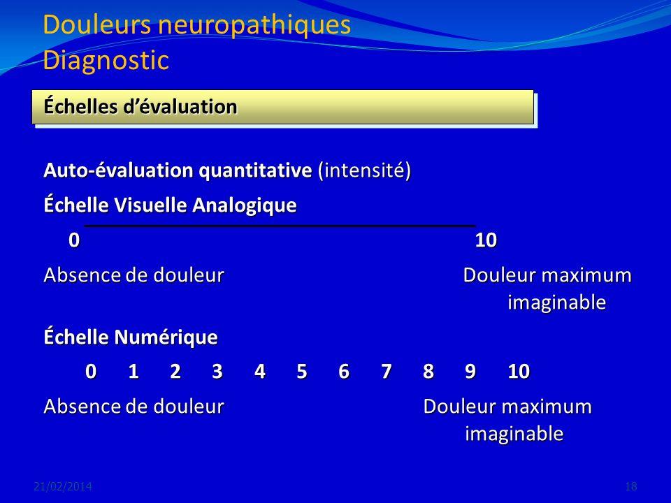 Douleurs neuropathiques Diagnostic