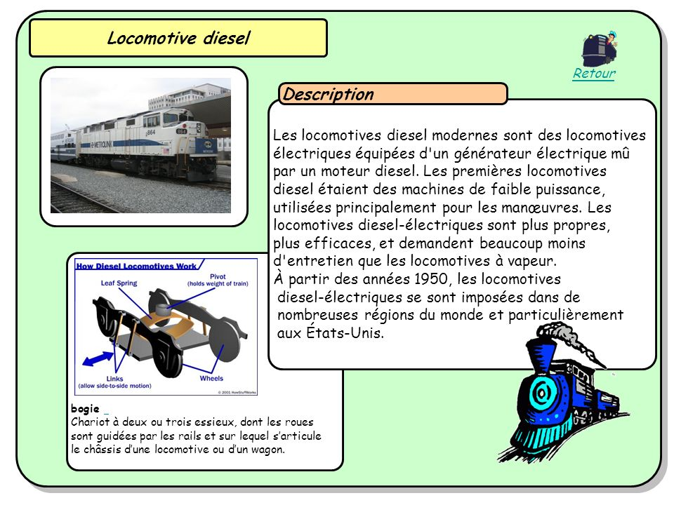 Locomotive diesel Description