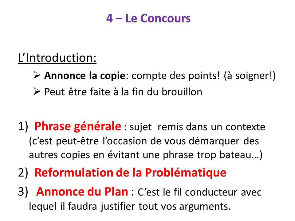 2) Reformulation de la Problématique