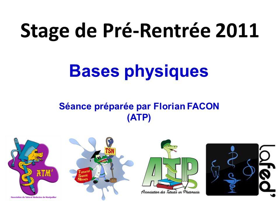 Séance préparée par Florian FACON (ATP)