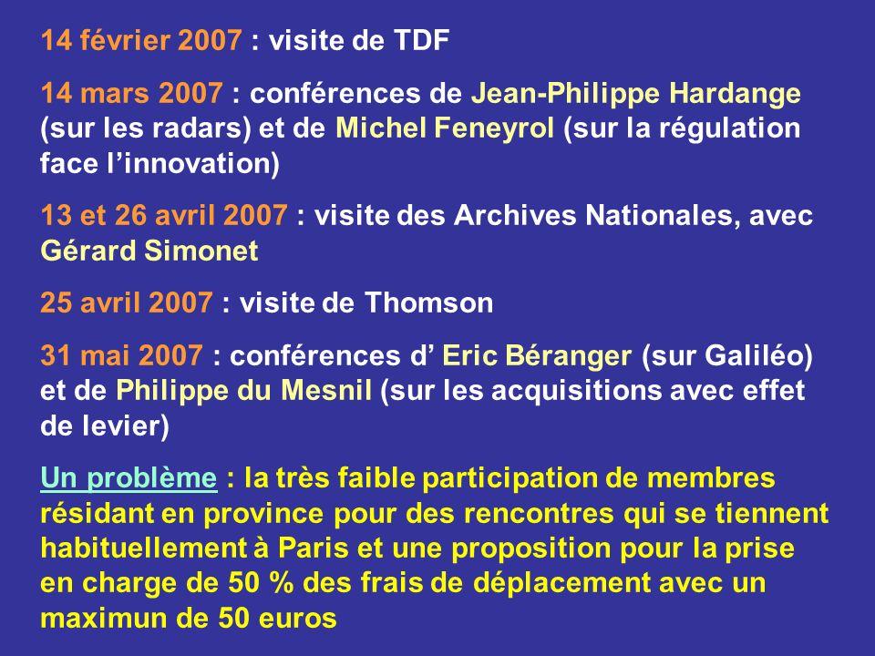 14 février 2007 : visite de TDF