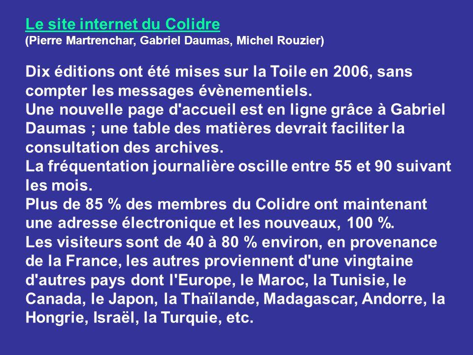 Le site internet du Colidre