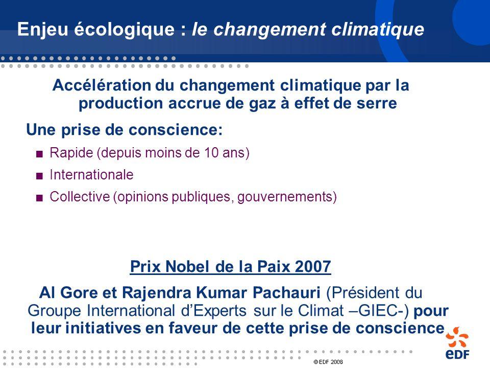 Enjeu écologique : le changement climatique