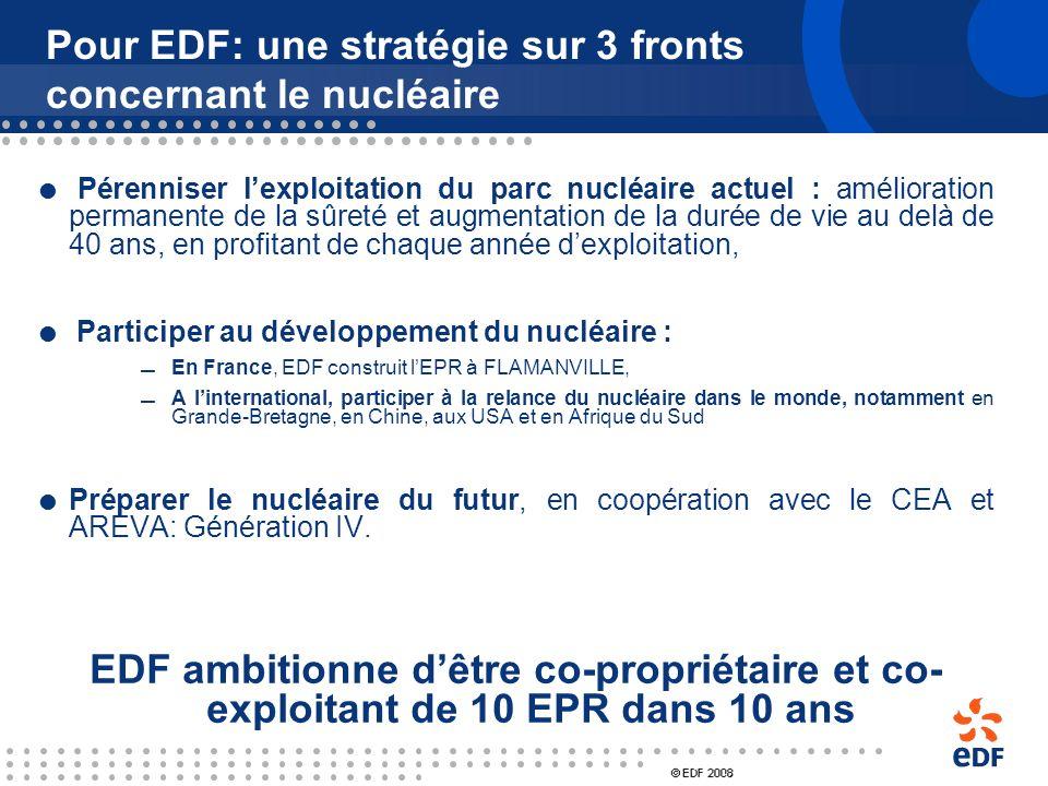 Pour EDF: une stratégie sur 3 fronts concernant le nucléaire